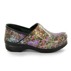 Dansko Women's Professional Clog Mosaic Floral Patent Leather Size 38 Medium