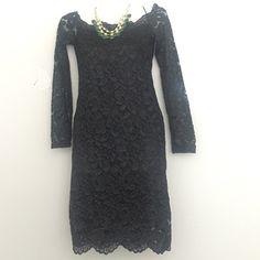 """NEWH & M lace cocktail black dress A new,never worn with tags attached to it ,H & M lace dress.measurements are as follow : length :34"""" width (hips area)13.5"""" sleeves length:21"""" ......perfect for casual or evening attire !!! H&M Dresses Prom"""