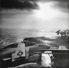 Sunset aboard USS Forrestal