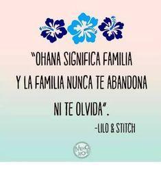 Resultado de imagen para lilo y stitch ohana significa familia español #familiafrases Lilo Stitch, Cute Stitch, Frases Disney, Disney Quotes, Mean Family Quotes, Ohana Means Family, Cute Disney Wallpaper, Simple Quotes, Life Philosophy