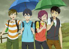 Eternal Summer ~~ It's odd to see a chibi Sosuke here. He's displacing a chibi Nagisa. Free Eternal Summer, Free Characters, Anime Characters, Rin Matsuoka, Makoto Tachibana, Aho Girl, Otaku, Tsurezure Children, Swimming Anime