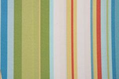 Robert Allen by DwellStudios Stripe Cabana Printed Poly Outdoor Fabric in Sky $9.95 per yard