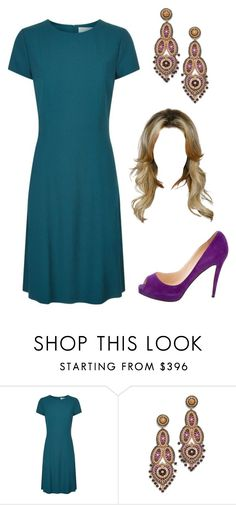"""""""Untitled #2923"""" by sarah-michelle-steed ❤ liked on Polyvore featuring BOSS Hugo Boss, Miguel Ases and Christian Louboutin"""