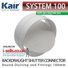 100mm DS Backdraught Shutters