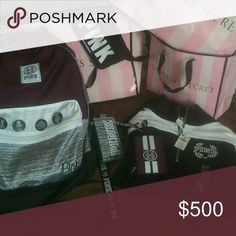 Tis the season for PINK lanyard backpack half zip I'M SELLING PINK IN MY CLOSET!   Nothing I'm selling is damaged . I hand picked the best BUT feel free to request more pics and ask several questions if needed. I'm a fast responder. Bundle and Save!  Make offers. Check out the rest of my $8 Sale. Over 80% off name brands and fall/summer fashions. I also have rare kavu and VS products and this year's popular items. Happy Poshing.    I ship 1-2 business days.  No trades unless you have trade…
