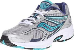Saucony Women's Cohesion 9 Running Shoe, Silver/Navy/Teal, 8.5 M US - http://www.exercisejoy.com/saucony-womens-cohesion-9-running-shoe-silvernavyteal-8-5-m-us/fitness/
