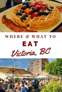Giant waffles, served with bacon, berries and lashings of maple syrup. Just the thought of it now has me nearly dribbling over my laptop (sorry). A week of eating like this though would really flummox my fight against the pounds. The food in Canada, howev Victoria Canada, Victoria British Columbia Canada, Langley British Columbia, Victoria 2017, Vancouver British Columbia, Sunshine Coast, Quebec Montreal, Seattle, Voyage Canada