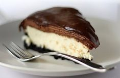 This recipe is so over the top it should be printed with a danger sign, that is, according to my hubby, who is partial to a good cheesecake. This cheesecake has four fabulous layers - crunchy Oreo Cookie Crust, silky, creamy Cheesecake, French chocolate mousse and a topping of Espresso Ganache and they complement each other very well. I particularly love how well written and easy to follow the directions are for this cheesecake. The pictures are stunning. Winner, Winner, Chocolate Mousse ...