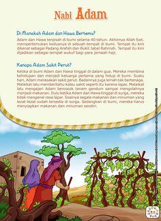 DI MANAKAH ADAM DAN HAWA BERTEMU?Adam dan Hawa terpisah di bumi selama 40 tahun. Akhirnya Allah Swt. mempertemukan keduanya di sebuah tempat di bumi. Tempat itu kini dikenal sebagai Padang Arafah dan Bukit Jabal Rahmah. Tempat itu kini dijadikan sebagai tempat wukuf bagi para jemaah haji. KENAPA ADAM SAKIT PERUT?Ketika di bumi Adam dan Hawa … Kids Story Books, Stories For Kids, Prophets In Islam, Islam And Science, Ramadan Day, Islam For Kids, All About Islam, Shia Islam, Learn Islam