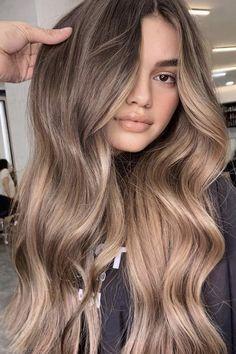 Blonde Hair Looks, Brown Blonde Hair, Hair Color For Black Hair, Brown Hair Colors, Spring Hair Colors, Light Brunette Hair, Sand Brown Hair, Lightest Brown Hair Color, Brown Hair For Summer