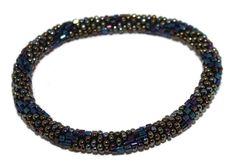 Glass Bracelet Nepal Bracelet Roll on Bracelet Crochet Bracelet Glass Bead Bracelet Friendship Bracelet 328