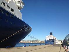 Le Zenith et l'Horizon au port de #Marseille #onestbienla #croisieresdefrance #CDF