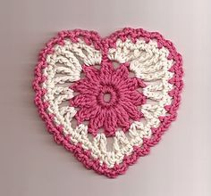 Free Floral Heart Motif crochet pattern from Talking Crochet newsletter. Subscribe here: www.AnniesNewsletters.com.