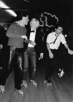 Andy Warhol roller skating