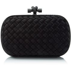 Bottega Veneta Intreccio Impero Ayers Knot Clutch ($1,260) ❤ liked on Polyvore featuring bags, handbags, clutches, black, bottega veneta clutches, bottega veneta handbags, bottega veneta, kiss-lock handbags and locking purse