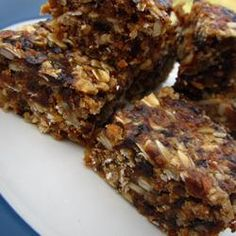 Healthy energy bars - chewy and great flavor bars recipe