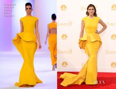 Kate Walsh In Stephane Rolland - 2014 Emmy Awards - Red Carpet Fashion Awards
