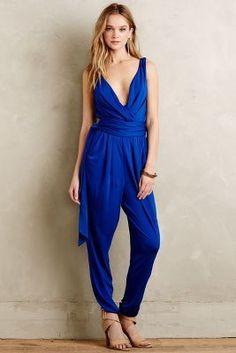 Pure + Good Asherah Jumpsuit #blue #jumpsuit #royalblue #cobalt #fashion #trend #anthropologie