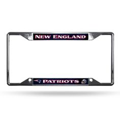 New! New England Patriots License Plate Frame Chrome EZ View Retro Red Design #NewEnglandPatriots