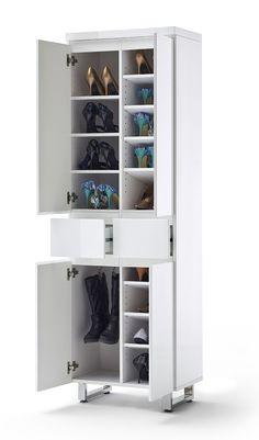 Schuhschrank Bianco V Hochglanz Weiß Passend Zum Möbelprogramm Bianco 1 X  Schuhschrank Mit 4 Türen 2