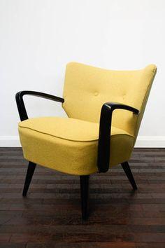 RETRO 50s COCKTAIL CHAIR ARMCHAIR FABRIC VINTAGE 60s MID CENTURY | EBay |  Interior | Pinterest | Cocktail Chair, Armchairs And Mid Century