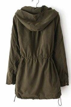 olive green trench coat
