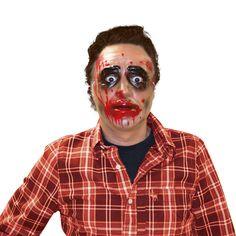 Careta de Zombie Transparente #mascaras #antifaces #carnaval