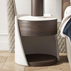 Exclusive Modern Italian Bedside Table at Juliettes Interiors. Italian Furniture, Modern Furniture, Furniture Design, Furniture Removal, Side Tables Bedroom, Cama Box, Night Table, Design Moderne, Cuisines Design