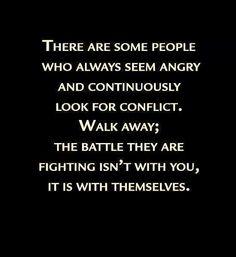 Sad but true, walk away