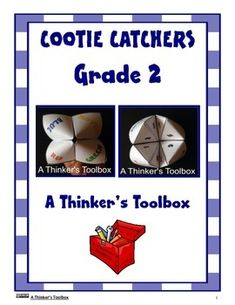 Cootie Catcher Math Hand Game - Grade 2 by A Thinker's Toolbox #addition #subtraction #wordproblem #time #shapes #printables #fun