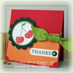 love the colors #stampinup