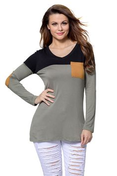 Ready to ship: Chicloth Black Gr.... http://chicloth.com/products/chicloth-black-grey-color-block-patch-insert-long-sleeve-blouse-top?utm_campaign=social_autopilot&utm_source=pin&utm_medium=pin