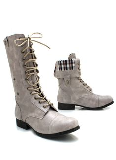 plaid lined tall combat boots $38.60 riding boots, womens, small heel