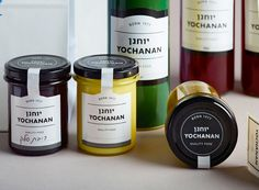 Logo and labels designed by Koniak for urban Tel Aviv delicatessen Yochanan