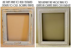 DIY: Creating Vintage-Style Frames With Puff Paint