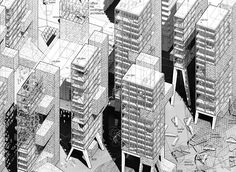 drawingarchitecture: Gonzalo del Val,BADEL BLOCK, Zagreb (CRO)