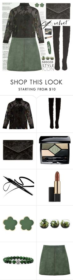 """Crushing on Velvet by Sasoza"" by sasooza ❤ liked on Polyvore featuring MASSCOB, Christian Louboutin, Rebecca Minkoff, Christian Dior, Estée Lauder, Jardin, Lagos and George J. Love"