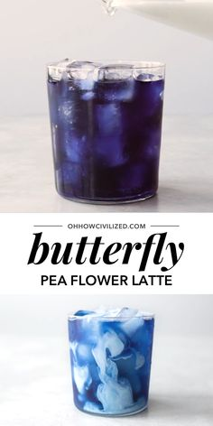 A pretty blue herbal tea latte made with butterfly pea flowers. Add a splash of milky goodness to get a gorgeous creamy swirl. Herbal Tea Benefits, Herbal Teas, Butterfly Pea Flower Tea, Flower Petals, Brunch, Bebidas Detox, Coffee Recipes, Iced Tea Recipes, Tea Blends