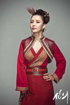 Shin Eun Jung as Hwa Soo In (Faith, Inspiring Generation, Gye Baek, East Of Eden)