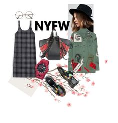 """""""PLAID!"""" by lindacorp on Polyvore featuring Brixton, MadeWorn, Dr. Martens, Loewe, Casio, contestentry and NYFWPlaid"""
