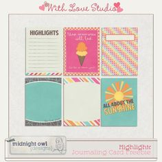 Free Highlights Journal Cards from Midnight Owl Designs {on Facebook}