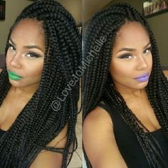 Love Braids n bright lipstick like her style! Makes me feel 17 again