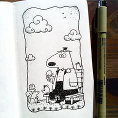 Dave Garbot — A Summer Day #illustration #drawing #penandink...