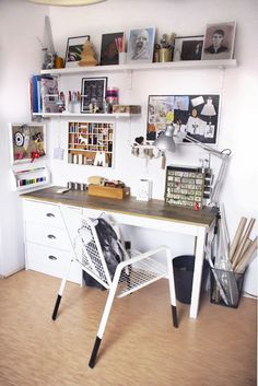 my craft room, work space, sewing at home