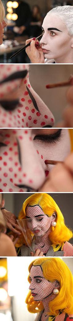 Woah cheeck out this halloween make up idea for a cartoon halloween costume. Pretty amazing and an easy DIY!