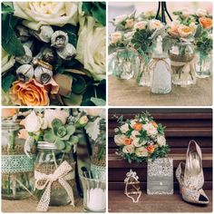 Mason Jars Flowers by Well Planned Weddings and Events