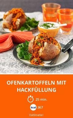 Ofenkartoffeln mit Hackfüllung - smarter - Kalorien: 367 Kcal - Zeit: 25 Min. | eatsmarter.de