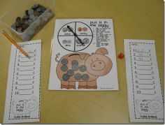 Math Station to work on counting like coins.