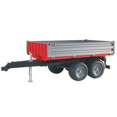 Bruder Tipping Trailer With Grey Sides by Bruder. $14.89. Our tipping trailer can be combined with all tractors and MB Unimogs of our Top Pro and Pro series. Suitable for playing indoors and outdoors. Manufactured from high-quality plastics such as ABS. Scale 1:16. Made in Germany. From the Manufacturer Small, easy-to-maneuver trailers are used for minor transporting tasks in the construction, farming, and forest industry. These trailers are usua...
