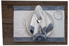 Eyelet-Embroidered Placemats & Napkins from Alabama Studio Style by Natalie Chanin